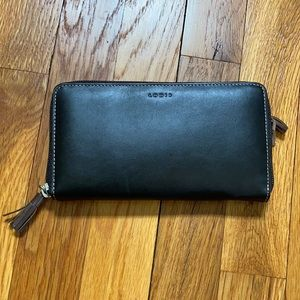 Lodi's Black and Brown Leather Wallet